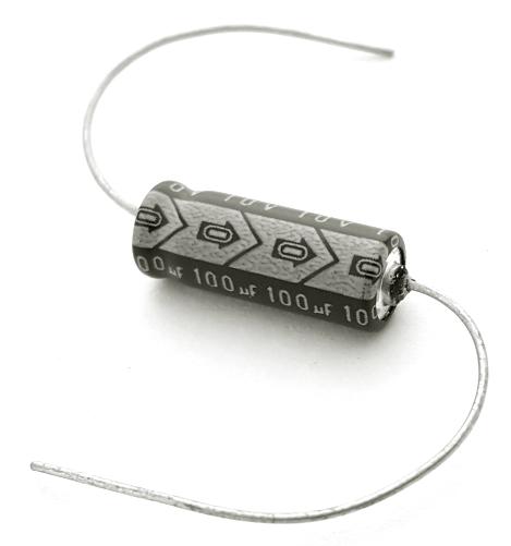100uF 100 uF 10V Axial Electrolytic Capacitor Intercap 100M10V