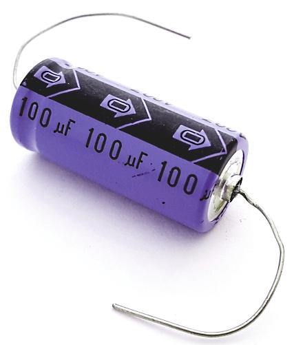 100uF 100 uF 200V Axial Electrolytic Capacitor Vintage  C-Con 101M200V