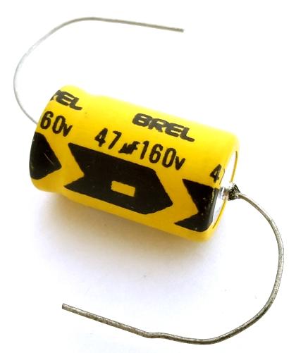 47uF 47 uF 160V Axial Electrolytic Capacitor Brel HVA47M160V