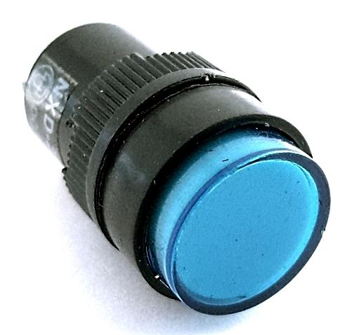 Blue 16mm 12V Round Panel Mount LED Light CNGAD NXD-213