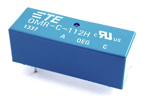 0.5A 12V Dry Reed Relay with Cover TE Connectivity OMR-C-112H