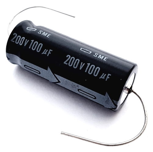 100uF 100 uF 200V Axial Electrolytic Capacitor United Chemi-Con SME Series