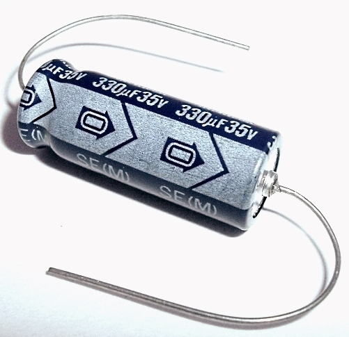 330uF 330 uF 35V Axial Electrolytic Capacitor Nichicon SE Series