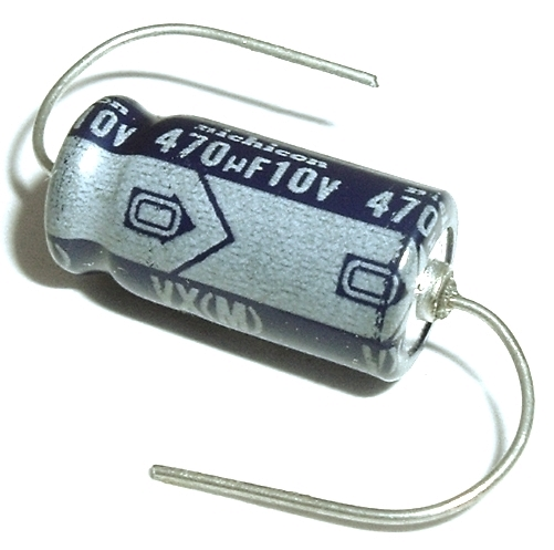 470uF 470 uF 10V Axial Electrolytic Capacitor Nichicon TVX1A471MAA