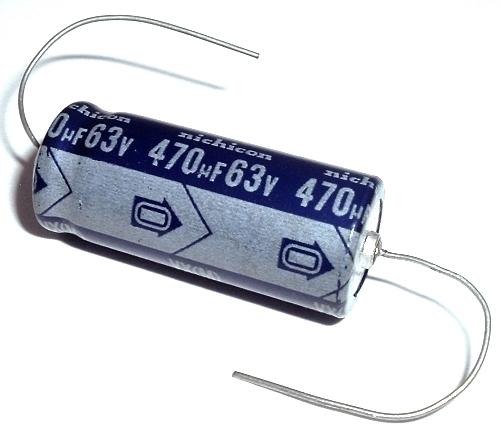 5 105 ° New 1 PC Nichicon Elko bipolar uep1j471mhd 470uf 63v 18x35,5mm rm7