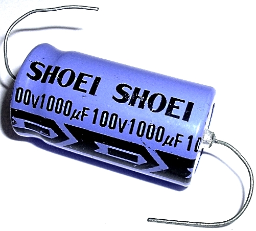 1000uF 1000 uF 100V Axial Electrolytic Capacitor Shoei