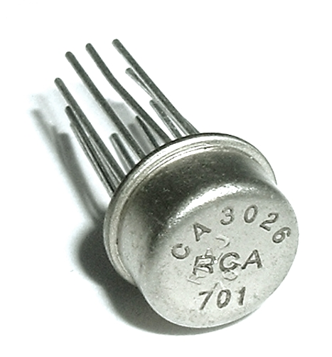 CA3026T 12 Pin Operational Amplifier Op Amp IC RCA