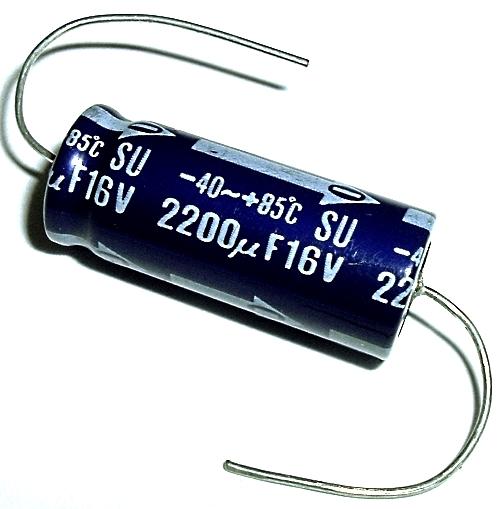 2200uF 2200 uF 16V Axial Electrolytic Capacitor Panasonic ECEB1CU222