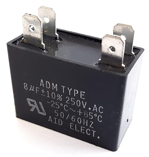8uF 8 UF 250VAC Motor Run Capacitor Polyester Film ADM250F805K
