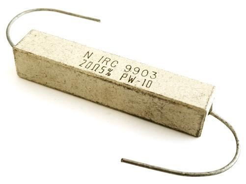 10W 20 Ohm 5% Wirewound Sandblock Resistor IRC PW10-200J
