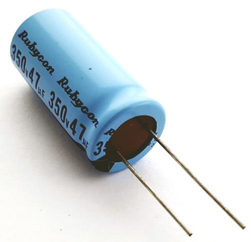 47.0uF 47 UF 350V Radial Electrolytic Capacitor Rubycon