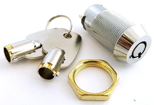 Key Operated Security Barrel Switch SPST 2 Position /& 2 Barrel Keys SPST 907A UK