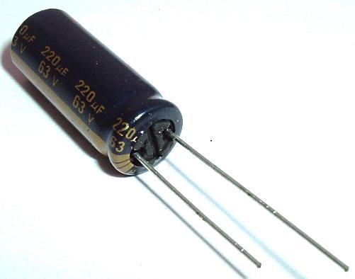 220uF 63V Radial Electrolytic Capacitor Panasonic EEUFC1J221