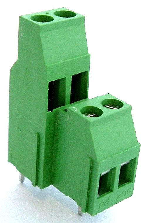 4 Position 20A 300V 2 Tier Terminal Block Amphenol EL2M042G00