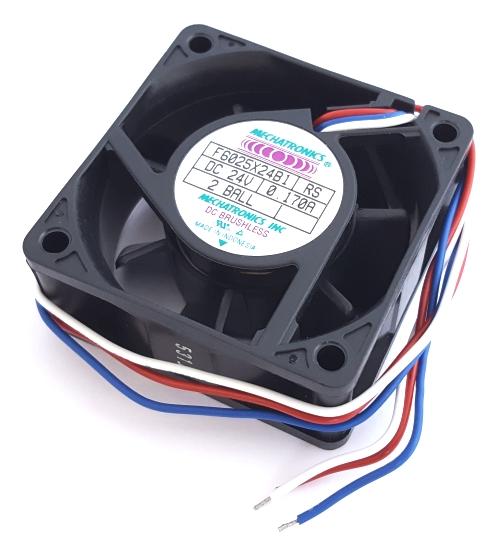 24V 0.17A Axial DC Fan w/Tachometer Mechatronics F6025X24B1RS