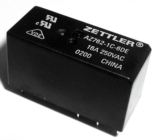16A 6.0V/250VAC SPDT PCB Power Relay American Zettler® AZ762-1C-6DE