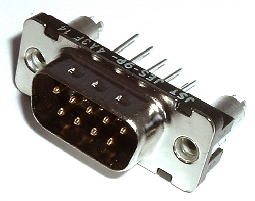 JES-9P-4A3F14 9 Position D-Sub Connector Through Hole Plug JST®
