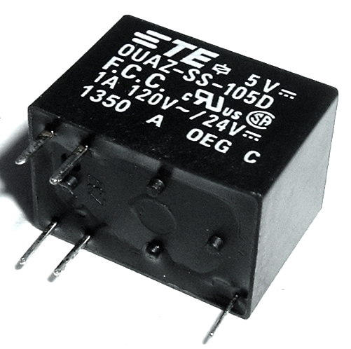 1.0A 5V SPDT Telecom PC Mount Relay TE Connectivity® OUAZ-SS-105D