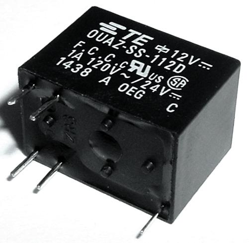 1.0A 12V SPDT Telecom PC Mount Relay TE Connectivity® OUAZ-SS-112D