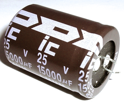 15000uF 25V Radial Snap In Electrolytic Capacitor Illinois Capacitor® 159LMU025M2DF