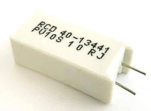 10W 10 Ohm 5% Radial Wirewound Resistor RCD® PV10S-100-JBW