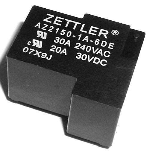 30A 240VAC Miniature Power Relay Zettler AZ2150-1A-6DE