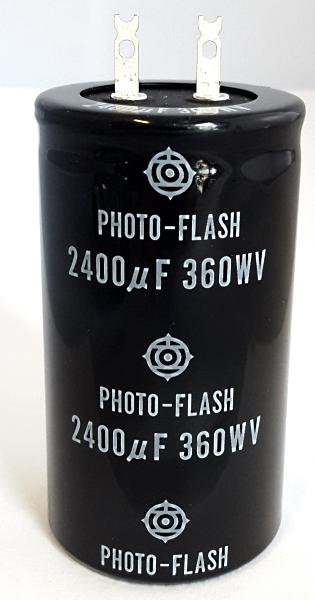 2400uF 360V Electrolytic Photo-Flash Capacitor Hitachi® 360HS2400-4581