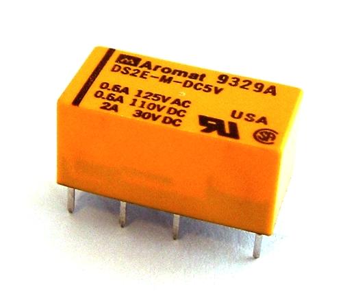 2.0A 5V Miniature General Purpose DPDT Relay Aromat® DS2E-M-DC5V