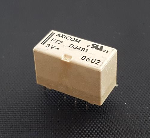 2A 3V High Dielectric Miniature RF Relay DPDT Axicom® FT2-D3491 / 2-1462035-7