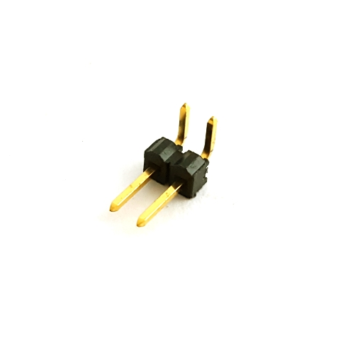 2 Position Right Angle Connector Header Samtec® TSW-102-08-GS-RA