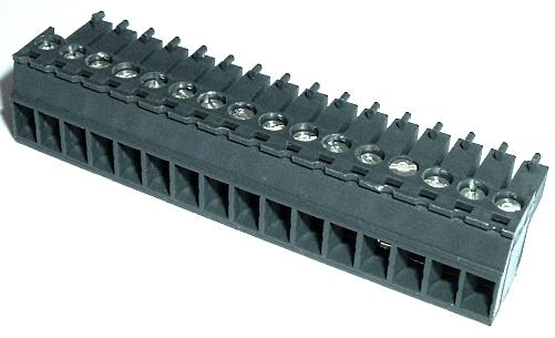 16 Position 8A 300V Terminal Block Connector WECO® 110-A-111/16GN