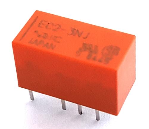 2A 3V Miniature Signal Relay DPDT Non-Latching NEC® EC2-3NJ