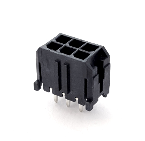 6 Position Header Connector Vertical Dual Row Molex® 0430450628