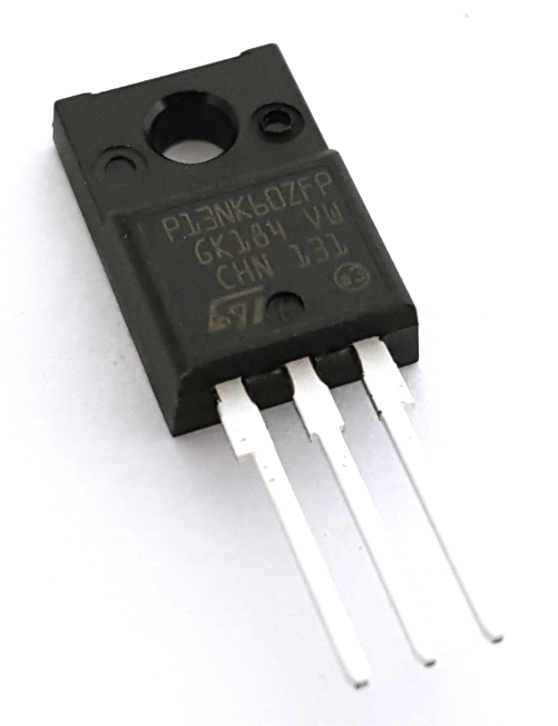 STP13NK6ZFP 13A 600V 35W N-Channel Power MosFET Transistor STMicroelectronics®