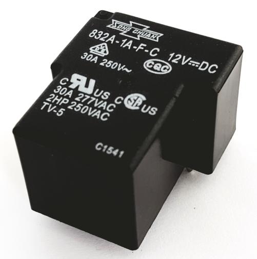 30A 12V PCB Relay Heavy Duty Flux Tight Song Chuan® 832A-1A-F-C-12VDC