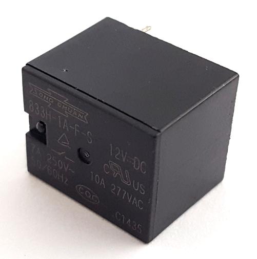 10A 12V SPNO Miniature PCB Relay Song Chuan® 833H-1A-F-S-12VDC