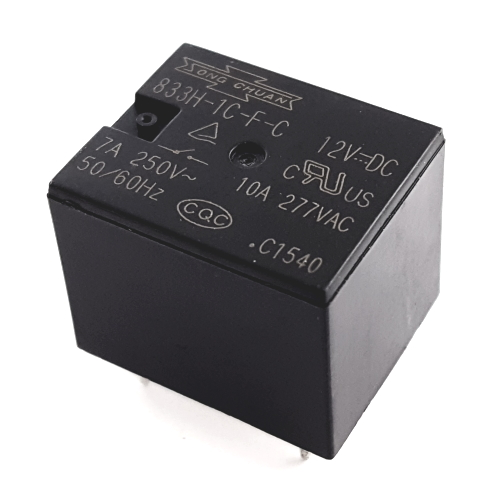 10A 12V SPDT PCB Miniature Relay Song Chuan® 833H-1C-F-C