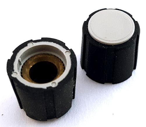 Black Rubber Grip over Polyamide Round Control Knob IMAO Corp® RKP-3-B