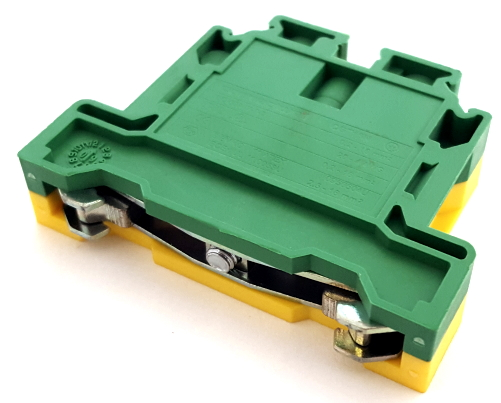 2 Position Ground Earth Terminal Block Connector Altech® CGT16N
