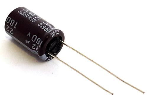 22uF 160V Radial Electrolytic Capacitor Teapo®/Mallory® SEK220M160ST
