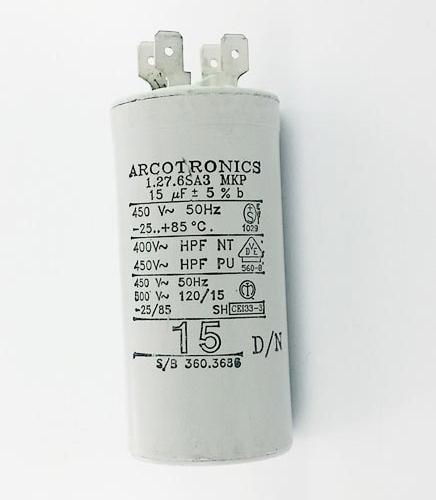 15uF 450Vac Motor Run Capacitor Arcotronics® C276ZA3515OZOJ