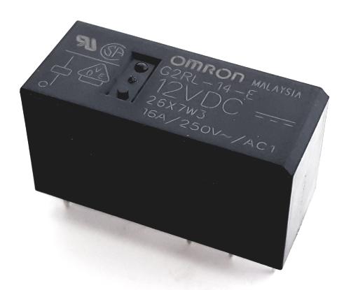 16A 12V PCB Mount Power Relay Electromagnetic SPDT Omron® G2RL-14-E-12VDC