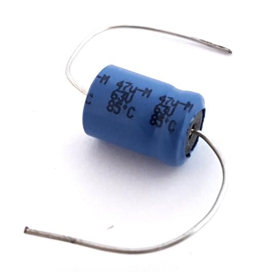 47uF 63V Axial Electrolytic Capacitor Vishay® BC Components® MAL202190542E3