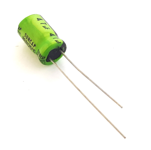 47uF 16V Radial Electrolytic Capacitors High Temperature Suncap® PDC Series