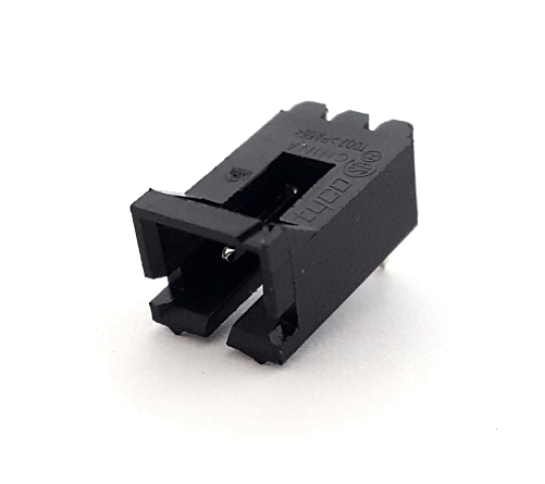 2 Position Right Angle Shrouded Header Connector TE Connectivity® 103634-1