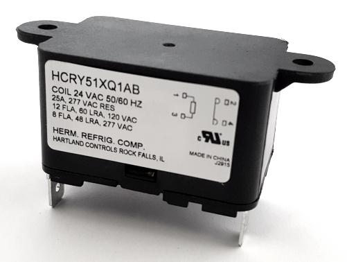 25A 24VAC SPST N.O. HVAC Relay Hartland Controls® HCRY51XQ1AB