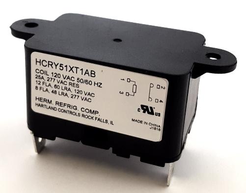 25A 120VAC SPST N.O. HVAC Relay Hartland Controls® HCRY51XT1AB 90291