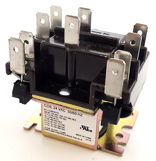 15A 24VAC DPDT HVAC Fan Relay Hartland Controls® HCRY62CQ1AA 90340