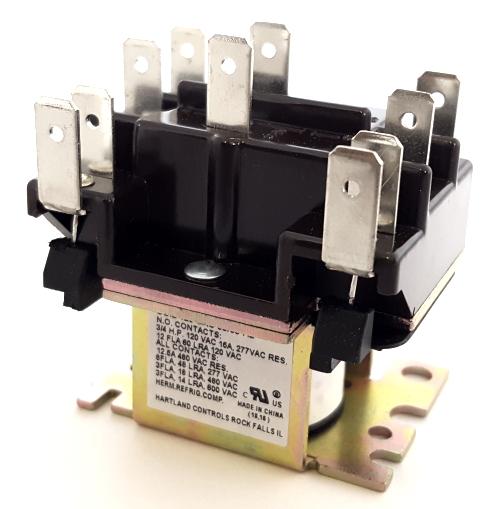 15A 120VAC DPDT HVAC Fan Relay Hartland Controls® HCRY62CT1AA 90341