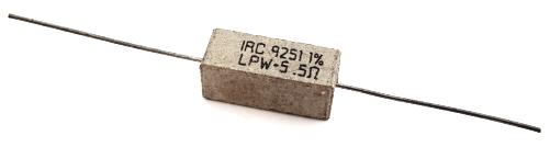 5W 0.5 ohm 1% Sandblock Wirewound Resistor IRC® LPW-5-0R5F
